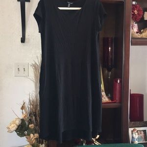 Eileen Fisher Hi Low Black Casual Soft Dress